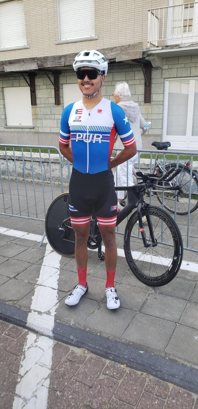 El puertorriqueño Derex Segarra actualmente participa del Campeonato mundial de Ciclismo de Ruta que se celebra en Flandes, Bélgica.