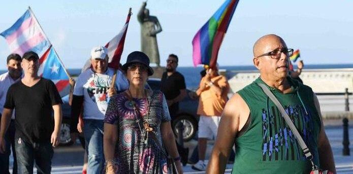"""""""Dejen de discriminar por mi identidad sexual"""" fue una de las consignas que se escucharon entre los manifestantes. (luis.alcaladelolmo@gfrmedia.com)"""