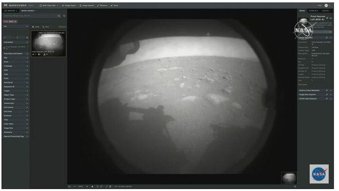 Llega la primera foto desde Marte.