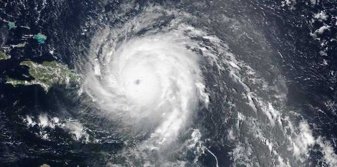 La furia del huracán Irma se sintió más fuerte en la isla de Saint Thomas. (NOAA)