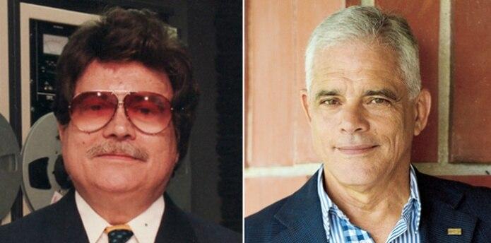 Raúl Carbonell, padre -a la izquierda- e hijo. (Archivo)