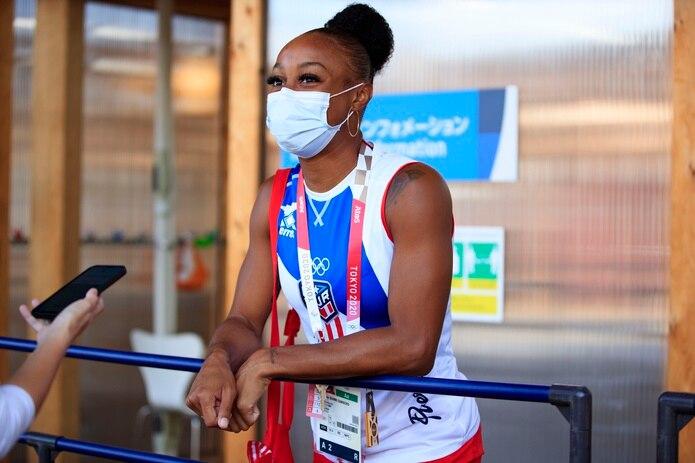 Jasmine Camacho-Quinn llegó a Tokio como la mejor corredora de los 100 metros con vallas este año. Ella ha establecido las tres mejores marcas en la distancia este año.