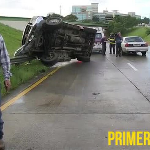 Accidente en expreso Las Américas