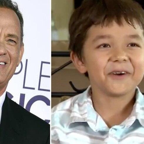 """Niño llamado """"Corona"""" recibe regalo de Tom Hanks"""