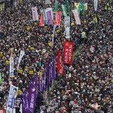 Toman las calles de Hong Kong durante protesta de Año Nuevo