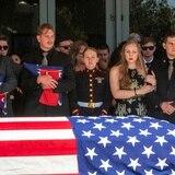 Despiden en California a tres marines caídos en Afganistán