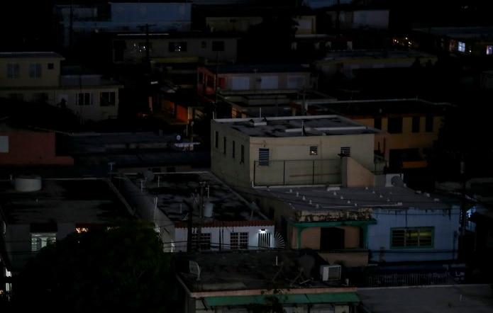 Imagen de residencias sin el servicio de energía eléctrica.