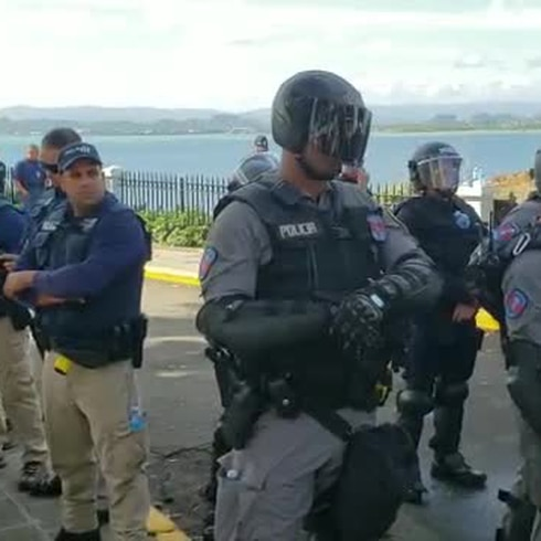 Tensión en una de las entradas de La Fortaleza