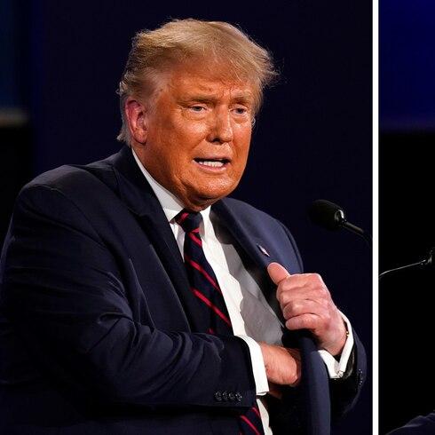 """""""Circo"""" de insultos entre Trump y Biden en televisión"""