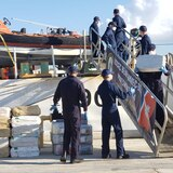 Federales confiscan primera embarcación semi sumergible en el mar Caribe