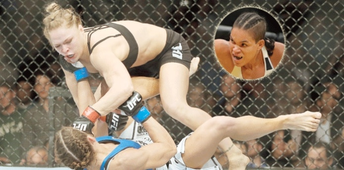 Mañana, viernes, Rousey hará su esperado regreso al octágono en UFC 207 en Las Vegas luego de 13 meses de ausencia. En el círculo, Amanda Nunes (Archivo)
