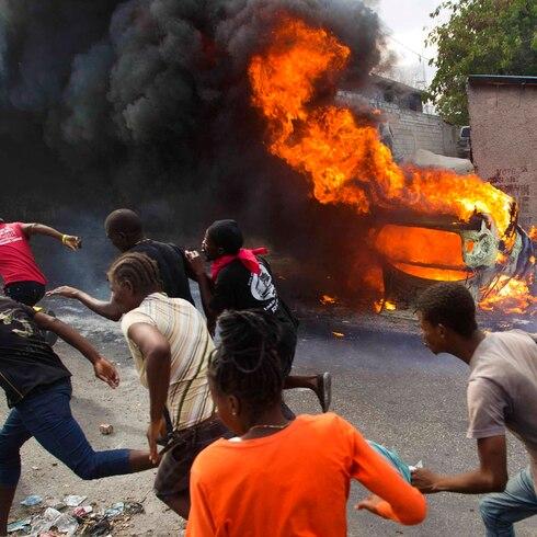 Explosivas protestas por el hambre y la corrupción en Haití