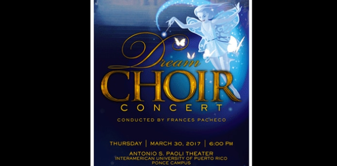 El coro, compuesto por 30 estudiantes de diferentes niveles y dirigido por la profesora Frances Pacheco. (Suministrada)