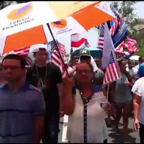 La marcha pro estadidad no tuvo mucha asistencia.