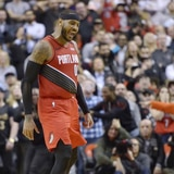 Canastazo de Carmelo Anthony le da triunfo a los Blazers sobre Raptors
