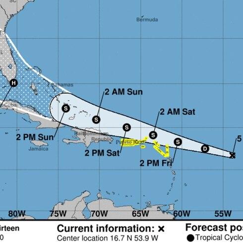 La hora del tiempo: vigilancia de tormenta tropical para la Isla