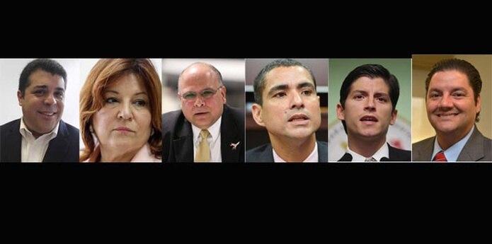 """Los representantes disidentes son  Luis Raúl Torres, Luisa """"Piti"""" Gándara, Manuel Natal, Luis Vega Ramos, Carlos Vargas Ferrer y Ángel Matos.(Archivo)"""