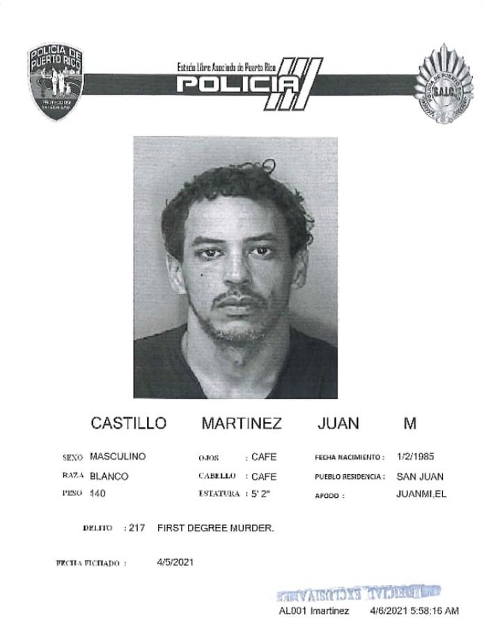 Juan M. Castillo Martínez, de 36 años, fue ingresado en prisión junto a Jacklyn H. Lugo Colón, de 23 años, tras ser acusados por el crimen de una empleada del motel Yess, en Carolina.