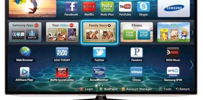 La posibilidad de que sus televisores cumplan funciones de espías aparece en la declaración de políticas de privacidad de la Smart TV de Samsung. (Archivo)