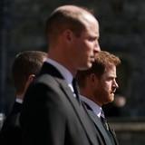 Enrique y Guillermo se reencuentran en el funeral del príncipe Felipe