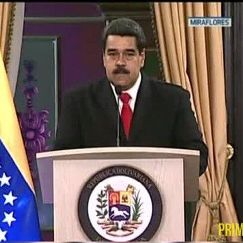 """Maduro le echa la culpa de su """"atentado""""al presidente colombiano"""