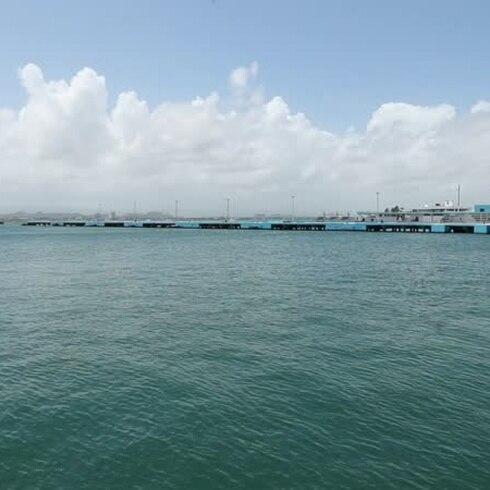 Calma en la zona portuaria de San Juan