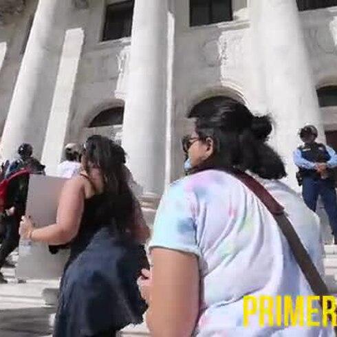 Manifestación contra la reforma laboral frente a El Capitolio