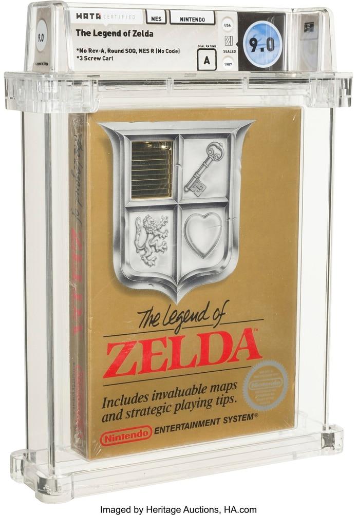 """Un ejemplar del videojuego """"The Legend de Zelda"""", de Nintendo."""