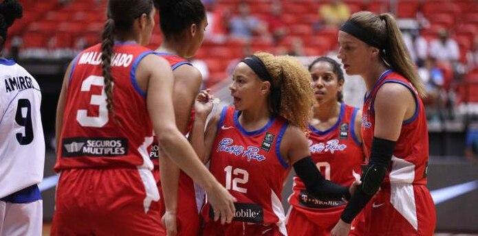 Dayshalee Salamán (12) y el Equipo Nacional de baloncesto femenino son anfitrionas del  AmeriCup, torneo que se juega en el coliseo Roberto Clemente y que podría afectarse por el paso de la tormenta Karen por nuestra zona. (juan.martinez@gfrmedia.com)