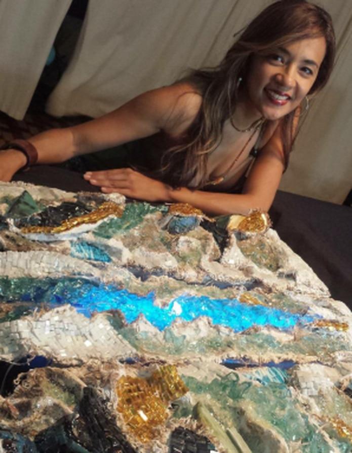 La artista explicó que la actividad se efectuó el pasado mes de octubre en el Zeugma Museum Contemporary Art, catalogado el museo más grande del mundo del mosaico. (Suministrada)