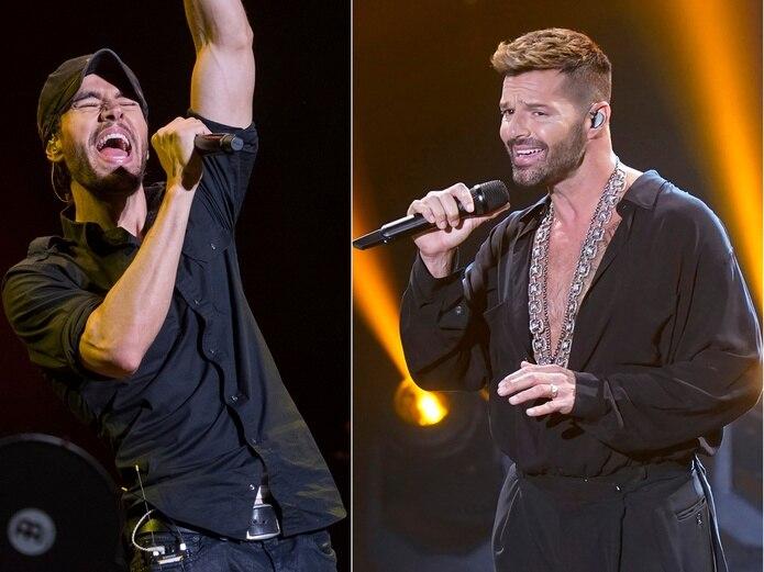 Enrique Iglesias y Ricky Martin están entre los múltiples artistas latinos que han anunciado giras musicales pospandemia por Estados Unidos. (AP Foto)