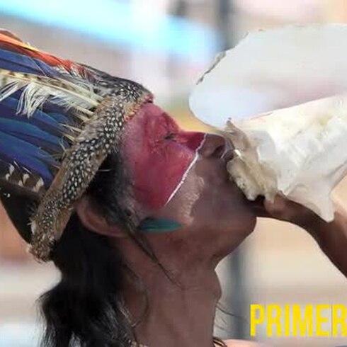Indígenas se manifiestan frente a la alcaldía de Arecibo