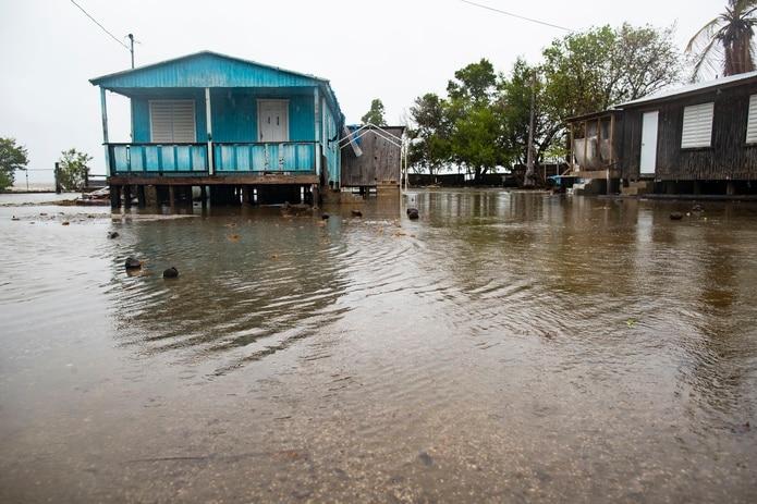 Impacto de la tormenta Isaías en Guayanilla.