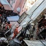 Edificio de cuatro pisos se desploma en Río de Janeiro
