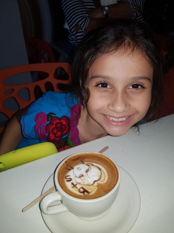 Valentina Alvarado, de 8 años.