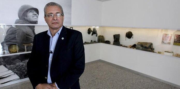 Mario Volpe presidente del Centro de Ex Combatientes de las Islas Malvinas (Cecim) de La Plata. (EFE/David Fernández)