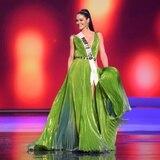 Estefanía Soto confirma que vestido verde de la competencia preliminar fue vandalizado