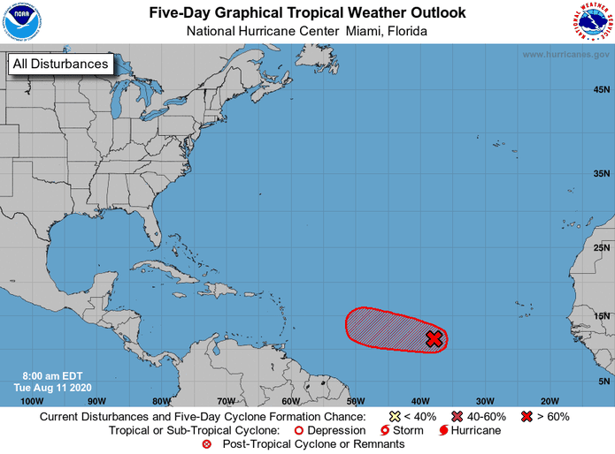 Invest 95L has 90% cyclonic development in 48 hours and within five days