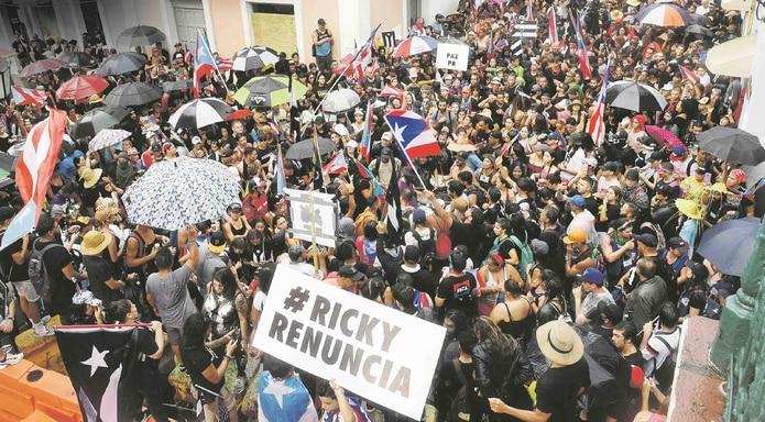 Verano del 2019 | Masivas protestas por la renuncia de Ricardo Rosselló como gobernador tras revelarse un ofensivo chat entre él y funcionarios del gobierno. (GFR Media)