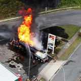 Impresionante vídeo del fuego en gasolinera de Canóvanas
