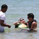 En imágenes: Olga Torres conoce el mar