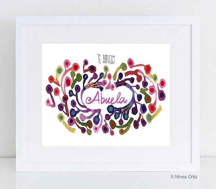 Esta pieza es parte de una serie para las madres y abuelas creada por Nívea Ortiz.