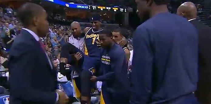 El jugador se lesionó durante el cuarto parcial frente a los Grizzlies de Memphis en la noche del miércoles. (Youtube)