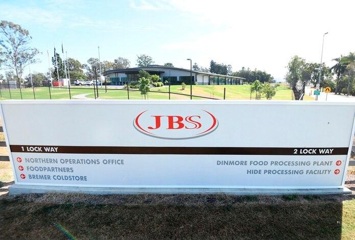 Entrada de la sede de la compañía cárnica JBS en Brisbane, Australia. EFE/EPA/DAN PELED/Archivo