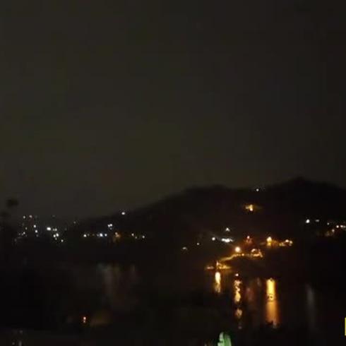 Noche de lluvia y truenos entre Trujillo Alto y Gurabo