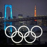 Los anillos olímpicos regresan a la bahía de Tokio