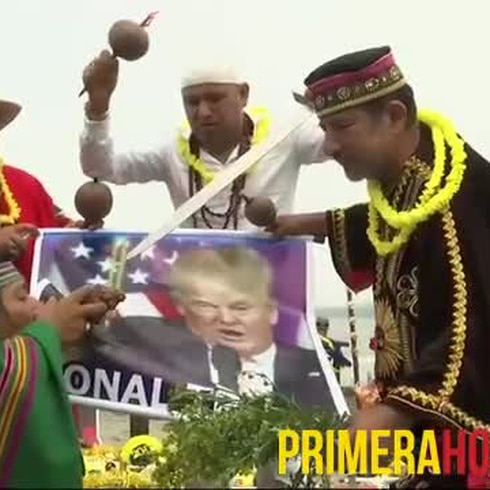 Chamanes peruanos temen que Trump traicione a su gente
