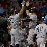 Los Yankees llegaron como una tromba al Fenway Park