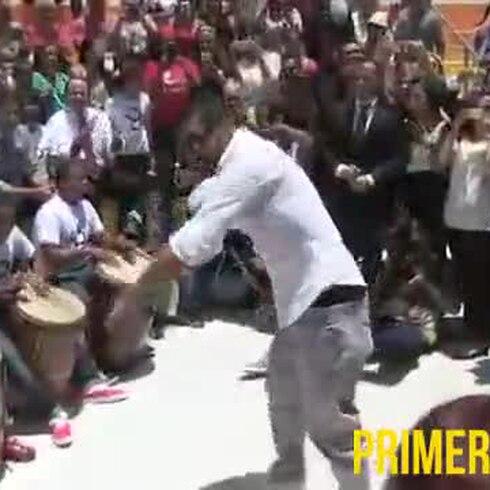 Ricky Martin baila en Loiza