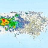 Fuertes lluvias y rayos se registran en el centro de la Isla
